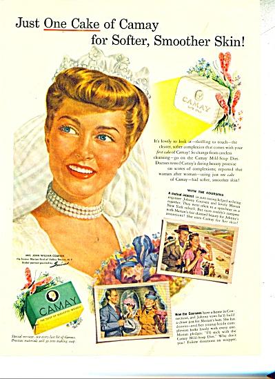 1946 Camay AD Bride MARIAN Reid  JOHN COURSEN (Image1)