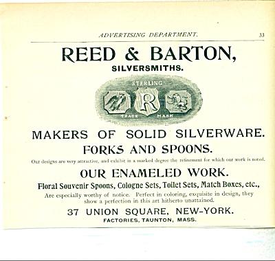 Reed & Barton Silversmiths AD - 1893 (Image1)
