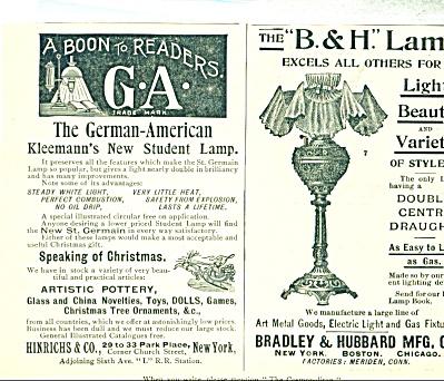 Kleemann's Bradley Hubbard  Lamps AD   1893 (Image1)