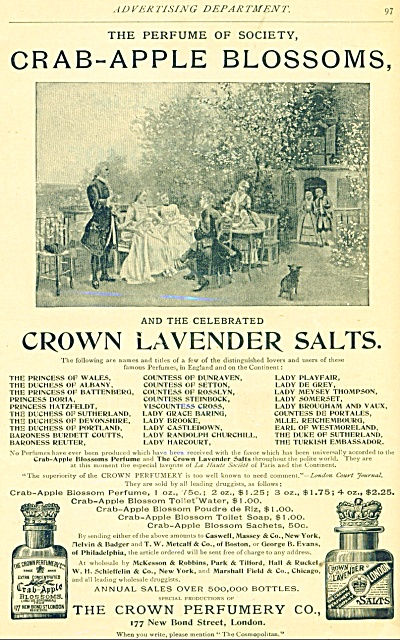 1893 Crown LAVENDER SALTS Perfumes AD England (Image1)