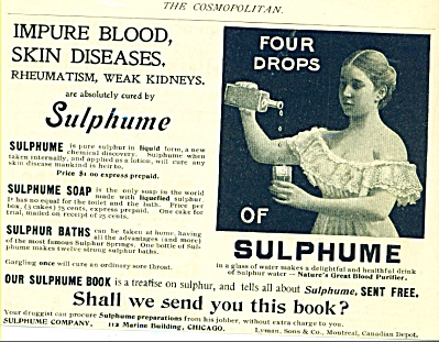 1897 SUMPHUME Sulpher Water AD Rheumatism ++ (Image1)