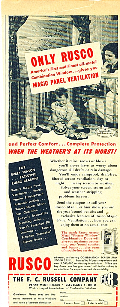 Rusco all metal combination windows ad   1953 (Image1)