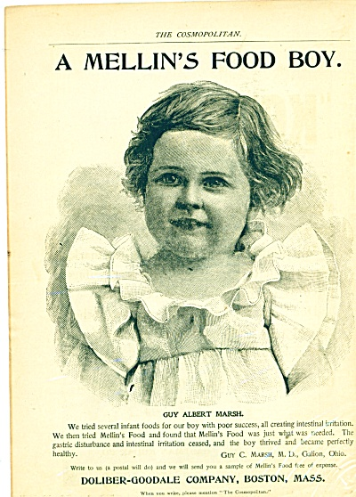 1897 MELLIN'S CHILD FOOD Gastric AD Doliber-G (Image1)