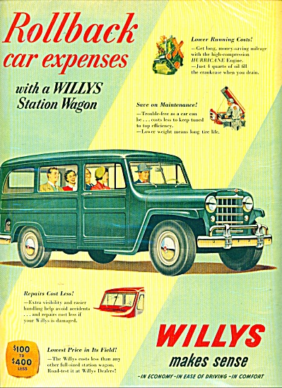 Willys Station wagon ad  1951 (Image1)