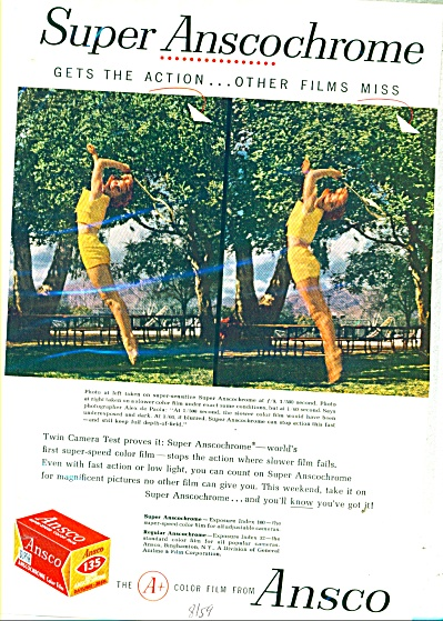 Ansco color film ad   1959 (Image1)