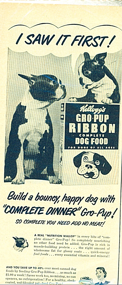 1951 Kellogg's gro pup dog AD CUTEST DOGS (Image1)