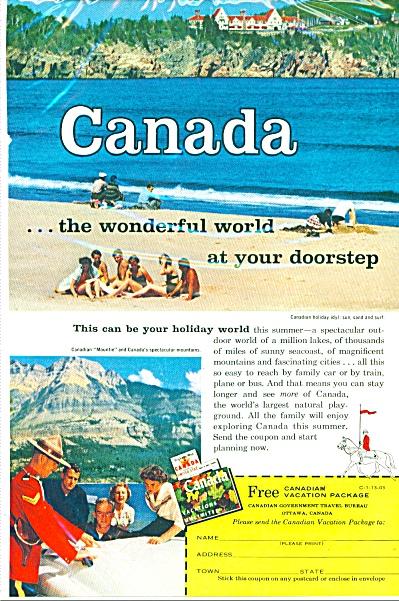 Canada tourism ad - 1958 (Image1)