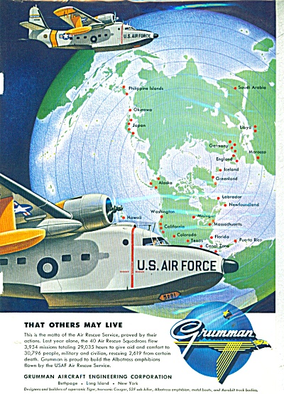 Grumman aircraft engineering corporation ad - (Image1)