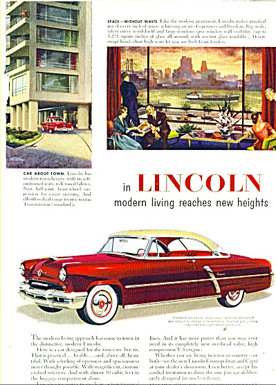 Lincoln automobile ad - 1952 (Image1)