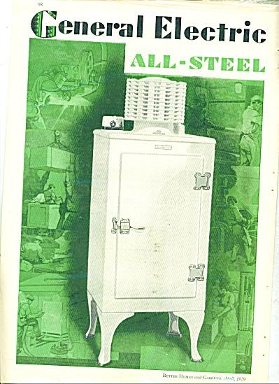 1929 RETRO General Electric all steel refrigerator ad (Image1)