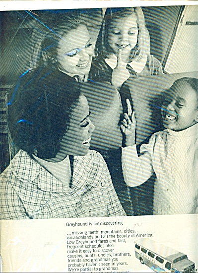 1968 Greyhound Bus Ad MOMMYS - GIRLS (Image1)