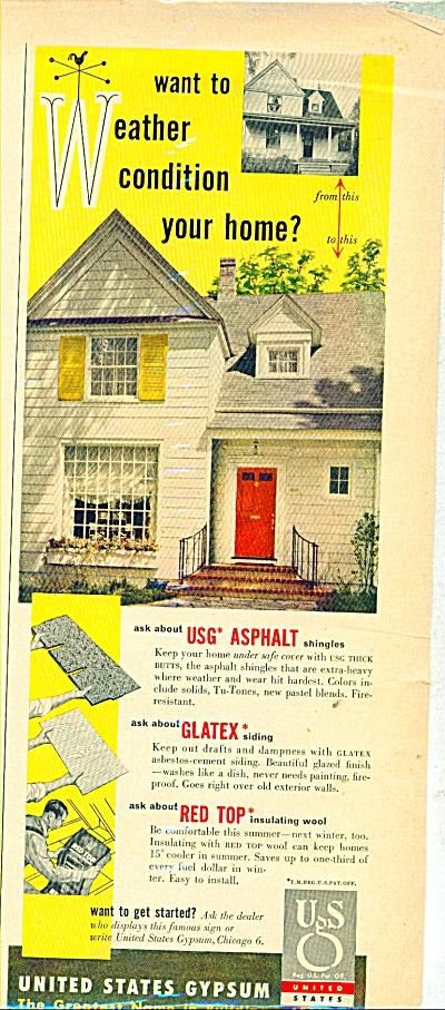 United States Gypsum Co. ad   1953 (Image1)