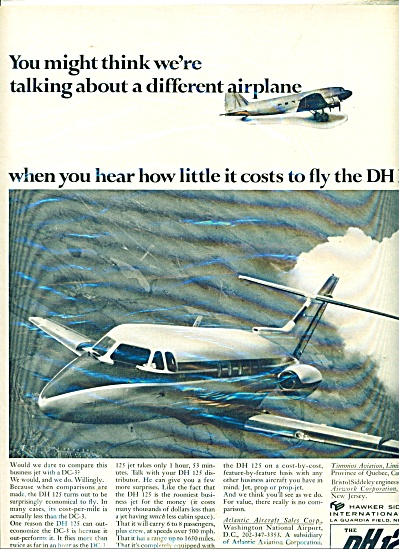 DH 125 airplane ad  - 1966 (Image1)