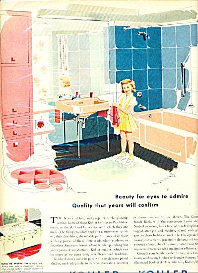 Kohler of Kohler plumbing fixtures - ad 1949 (Image1)