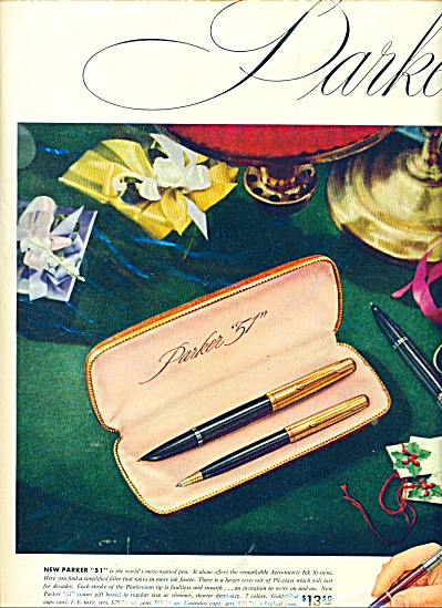 1951 Parker Pen Ad Different Models