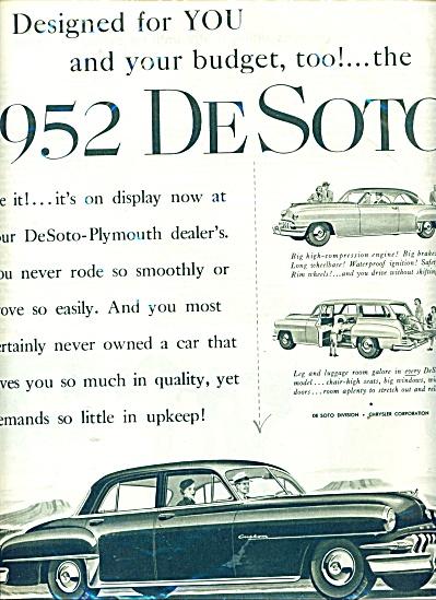 1952 Dessoto automobile ad (Image1)