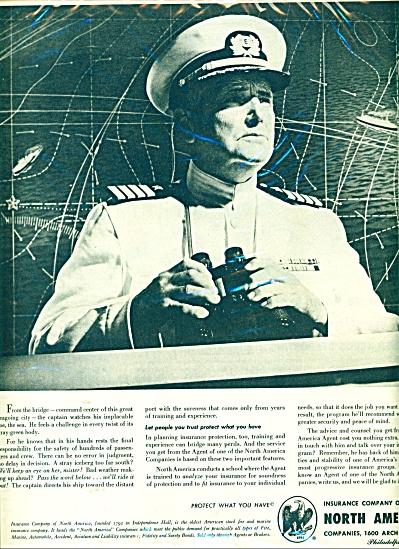 Insurance company of North America ad - 1951 (Image1)