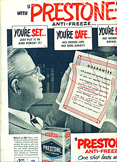 Prestone anti freeze ad   1951 (Image1)