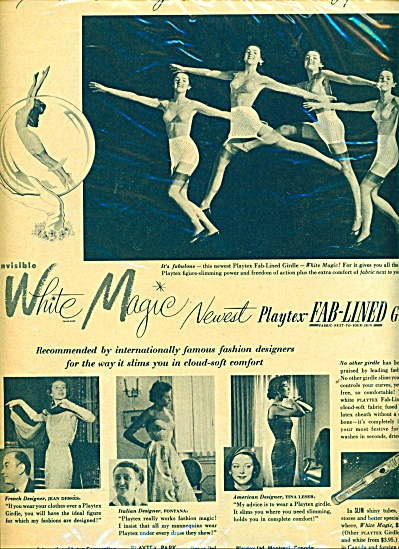 1951 PLAYTEX GIRDLE AD French Designer COOL P (Image1)