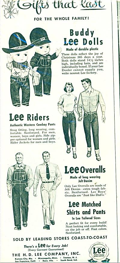 Lee overalls, shirts pants, etc. ad   1951 (Image1)