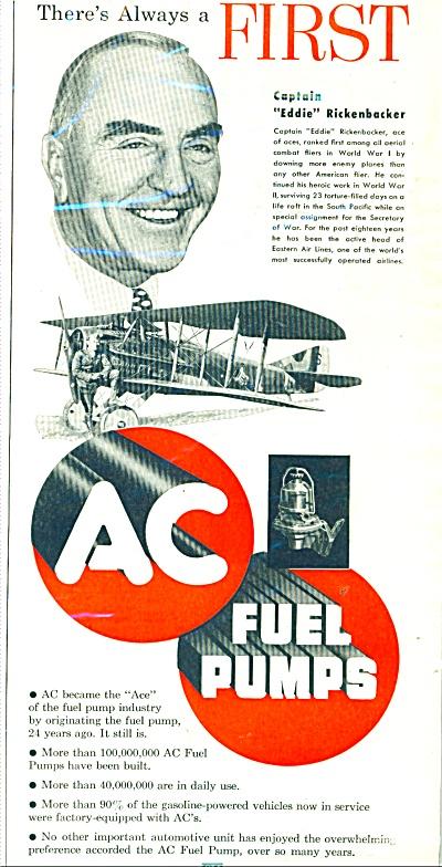 AC fuel pumps- EDDIE RICKENBACKER - ad 1951 (Image1)