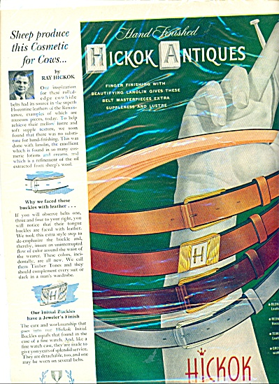 Hickok belts ad  - 1951 (Image1)