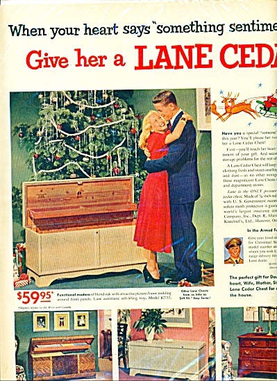 Lane Cedar Chest For Christmas Ad - 1951