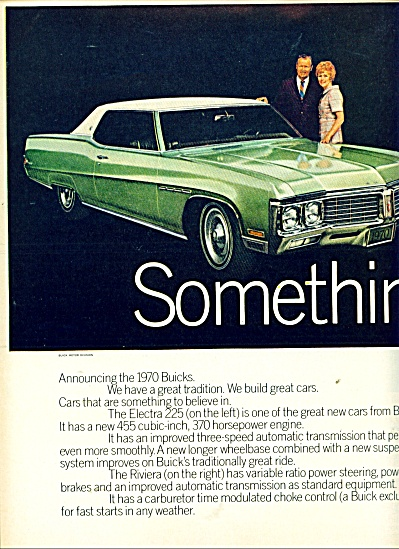 Buick 1970 Automibile Ad