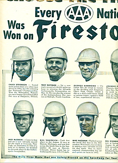 Firestone Tires ad  - 1953 (Image1)