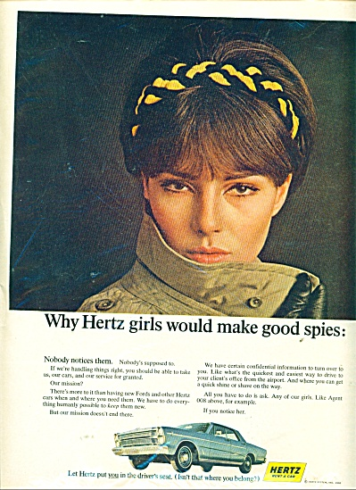 Hertz rent a car ad Barbara FELDON (Image1)