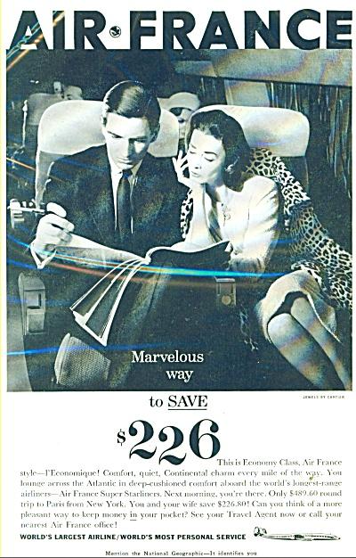 Air France Ad   1958 (Image1)