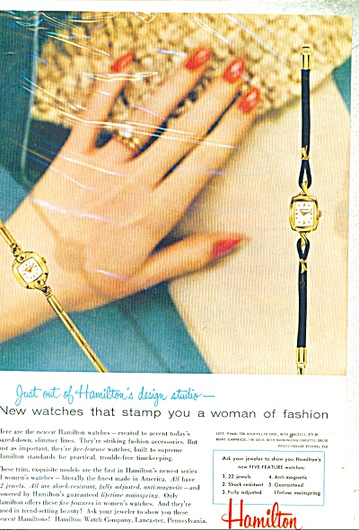 Hamilton women's watch ad -  1956 (Image1)
