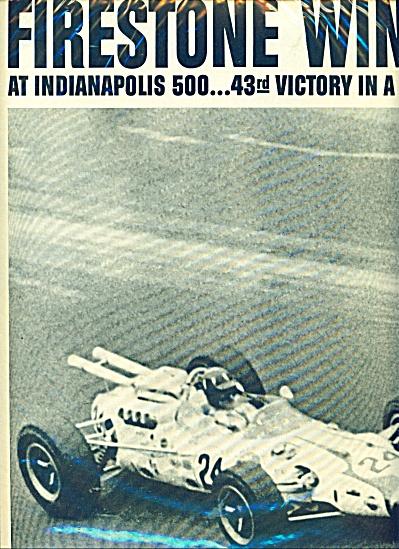 Firestone tires ad - Indianapolis 500 ad - (Image1)