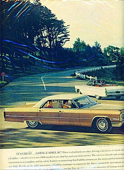 1966 CADILLAC Car Automobile AD (Image1)