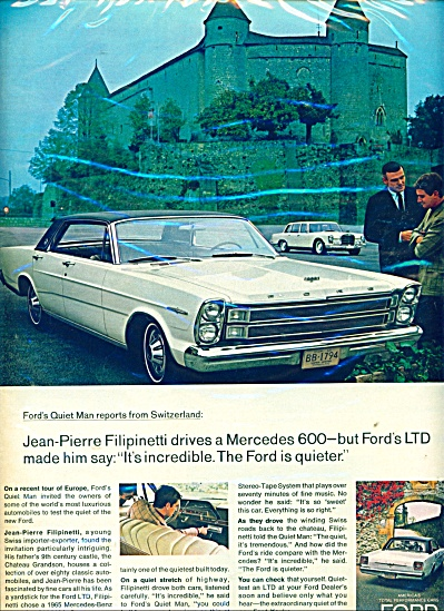 Ford LT automobile ad  1966 (Image1)