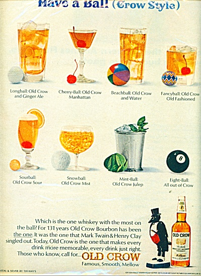 Old Crow Kentucky whiskey ad - 1966 (Image1)