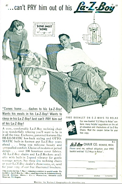 La-Z-Boy Chair Co., ad PRY DAD from CHAIR (Image1)