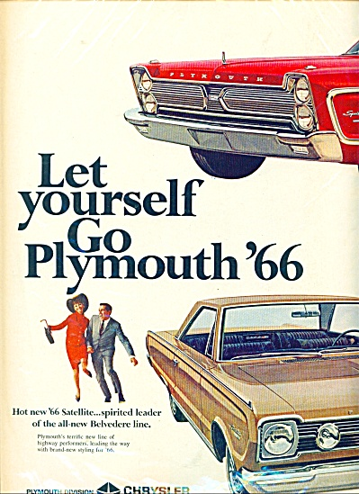 Plymouth automobiles for 1966 ad (Image1)