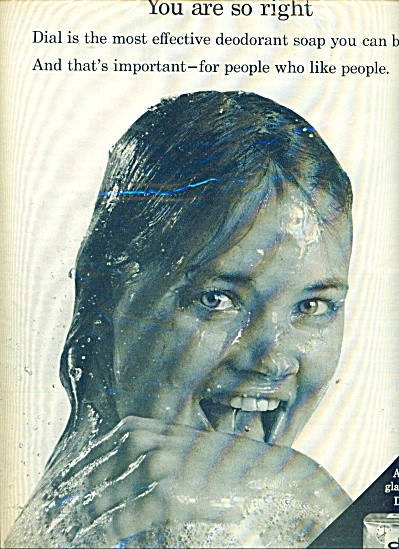 1965 DIAL SOAP AD Young TERRY RENO Shower (Image1)