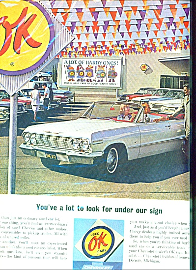Chevrolet used OK cars ad (Image1)