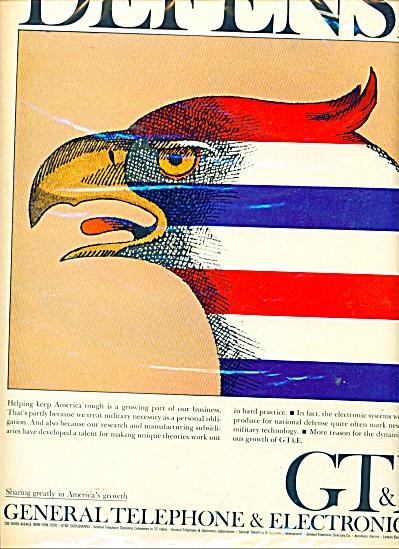 GT & E defense  ad  - 1964 (Image1)