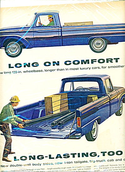 1964 Ford pickup trucks ad BLUE PICK UP (Image1)