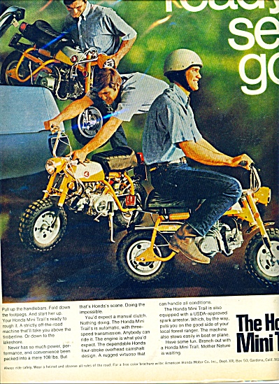 The Honda Mini Trail ad - 1969 (Image1)