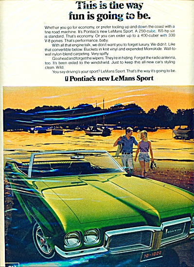 Pontiac  Wide Track cars for 1970 ad (Image1)