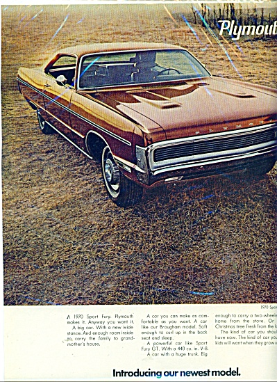 Plymouth Sport Fury for 1970 ad (Image1)