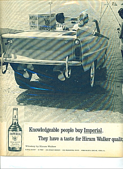 Hiram Walker Imperial Whiskey Ad - 1964