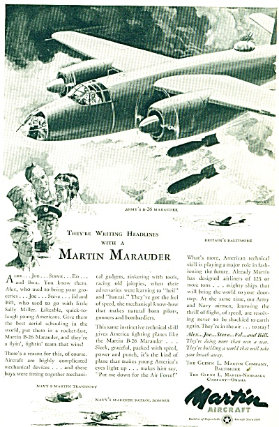 Martin Aircraft Co. ad (Image1)