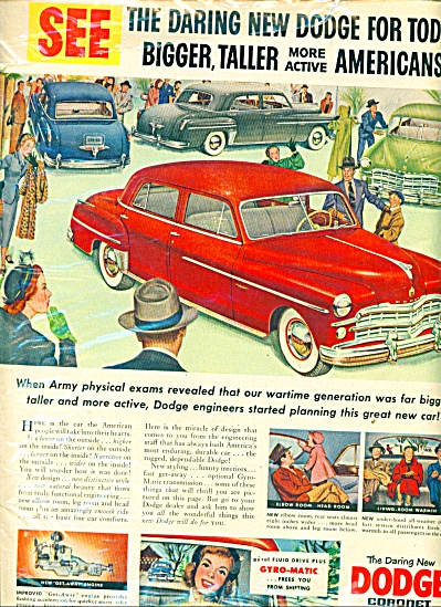 Vintage Dodge Coronet CAR automobile ad (Image1)
