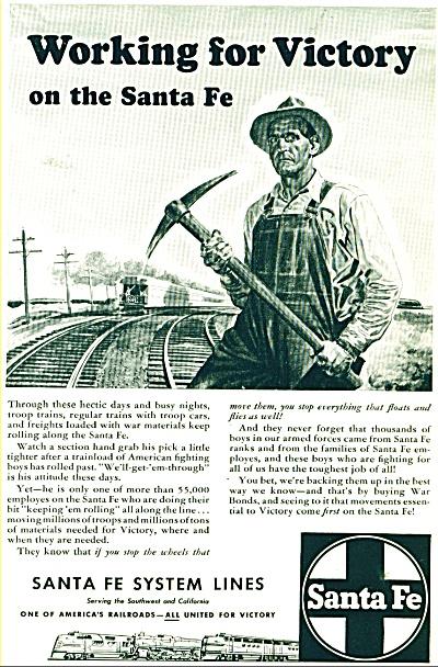 Sante Fe System railroad lines ad (Image1)