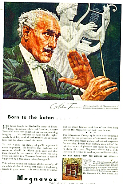 Magnavox- Arturo Toscanini AD BORIS CHALIAPIN (Image1)